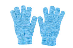 Wool gloves isolated Stock Image