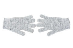 Wool gloves isolated Royalty Free Stock Photos