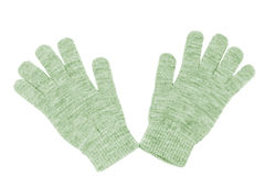 Wool gloves isolated Royalty Free Stock Images
