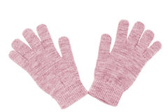 Wool gloves isolated. On white Royalty Free Stock Photos