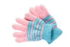 Wool gloves isolated on white . Stock Photo