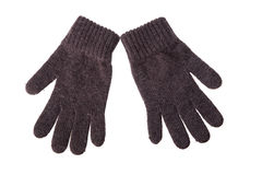Wool gloves. On white background royalty free stock photography