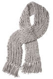 Wool gray scarf Stock Photos