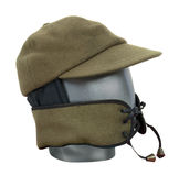 Wool Hat with Face Guard Royalty Free Stock Images