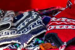 Wool hats Royalty Free Stock Images