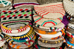 Wool hats from Morocco Stock Photo