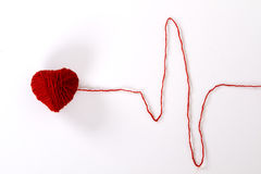 Wool heart cardiogram Stock Photography