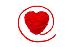 Wool hearts-1 Stock Images