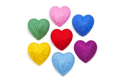 Wool hearts-10 Stock Images