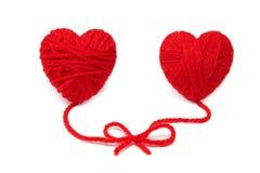Wool hearts-17 Royalty Free Stock Photos