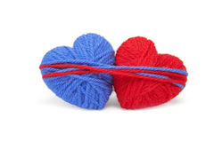 Wool hearts-19 Royalty Free Stock Images