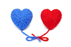 Wool hearts-20 Stock Image