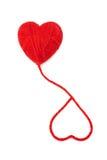 Wool hearts-23 stock image