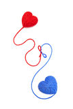 Wool hearts-25 Stock Images