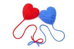 Wool hearts-27 Stock Photos