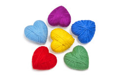 Wool hearts-8 Royalty Free Stock Image