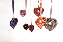 Wool hearts Stock Photos