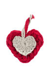 Wool hearts Royalty Free Stock Photos