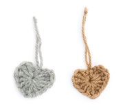 Wool hearts Stock Photography