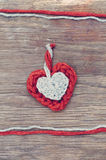 Wool hearts Royalty Free Stock Photography