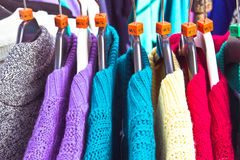 Wool jumpers Stock Photo