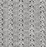 Wool knitted pattern. Closeup fabric background Stock Photo