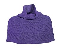 Wool knitted scarf Stock Image