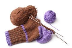Wool knitted sock Royalty Free Stock Photos