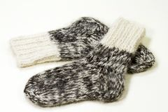 Wool knitted socks Royalty Free Stock Images