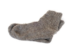 Wool knitted socks Royalty Free Stock Photo