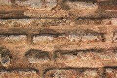 Ancient brick wall pattern of Aya Sofia in Istanbul royalty free stock photography