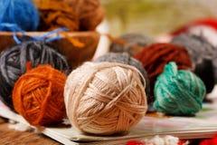 Wool knitting Royalty Free Stock Photos