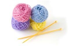 Wool knitting Stock Image