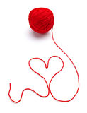 Wool knitting heart shape Royalty Free Stock Image