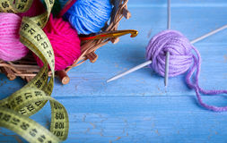 Wool knitting Stock Images