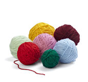 Wool knitting needlecraft Stock Photo