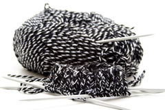 Wool with knitting needles. Thick wool with knitting needles Royalty Free Stock Photography