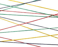Wool knitting string cord colorful background Stock Photography