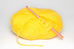 Wool for knitting on white background Stock Photography