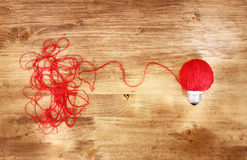 Wool light bulb Stock Image