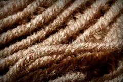 Wool. Macro of a natural coloured wool Royalty Free Stock Photography