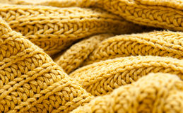 Wool material. Plaited wool material in close up mode royalty free stock images