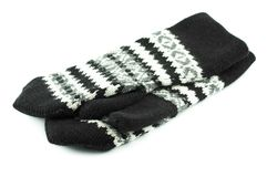 Wool Mittens Stock Photo