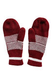 Wool mittens Royalty Free Stock Photos