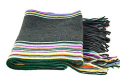 Wool multicolor striped scarf Stock Image