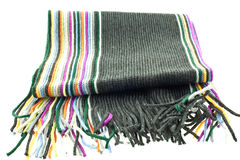 Wool multicolor striped scarf Royalty Free Stock Photography