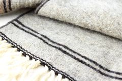 Wool. Natural Mexican wool fabric that is hand made Stock Images