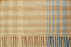 Wool plaid. Background of the wool plaid with fringe Stock Photos
