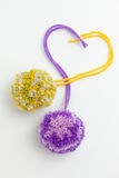 Wool Pom Poms Royalty Free Stock Photography