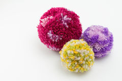 Wool Pom Poms Royalty Free Stock Photo